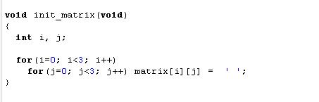 Fungsi Init_matrix()
