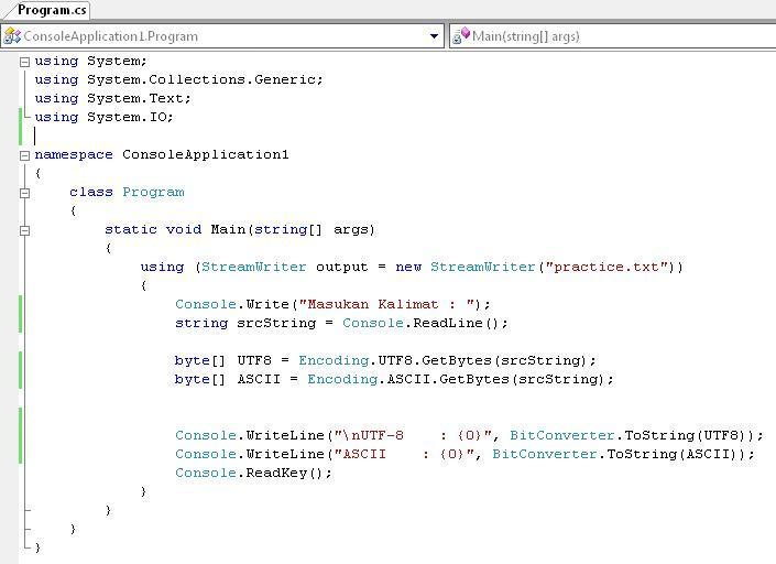ASCII coding